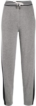 Lorena Antoniazzi Two-Tone Knitted Track Pants