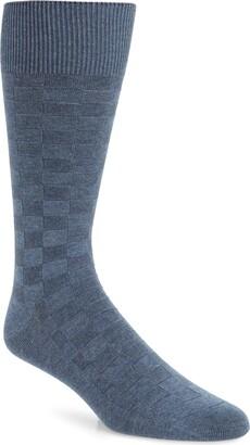 Nordstrom Grid Dress Socks