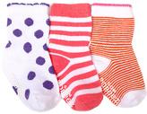 Robeez Bright Spotted Stripe Three-Pair Socks Set