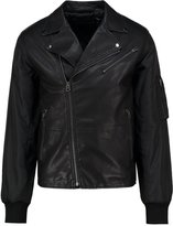 French Connection Free Wheeler Faux Leather Jacket Black