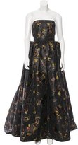 Oscar de la Renta Floral Strapless Gown w/ Tags
