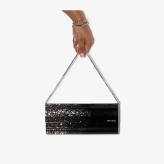 Jimmy Choo black Sweetie glitter clutch bag
