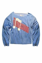Rebel Yell Music High Pullover in Periwinkle