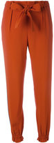 MSGM side-stripe tapered trousers - women - Cotton/Acetate/Viscose - 40