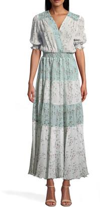 Nicole Miller Flower Dust Combo Maxi Dress