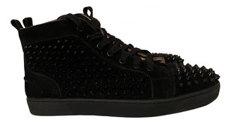 Christian Louboutin Louis Black Leather Trainers