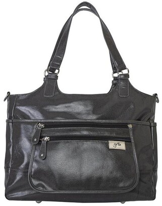 Gr8x Charlotte Tote Baby Bag in Charcoal