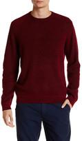 Ted Baker Rib Panelled Long Sleeve Crewneck Sweater