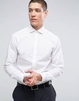 Calvin Klein Skinny Smart Shirt In Texture