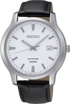 Seiko SGEH43P1,Men's Date,Stainless Steel Case,Leather Strap,Sapphire Crystal,100m WR,SGEH43