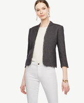 Ann Taylor Tall Grid Stitch Bolero Jacket
