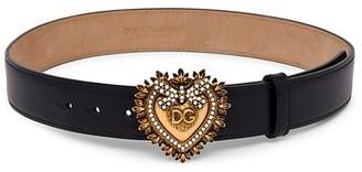 Dolce & Gabbana Devotion Heart Leather Belt