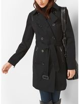 Michael Kors Faux Leather-Trimmed Trench Coat
