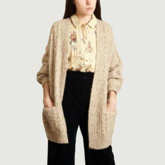 Suncoo Beige Polyester Gael Vest Cardigan - 0 | polyester | beige - Beige