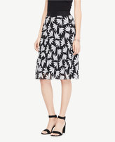 Ann Taylor Petite Fan Floral Pleated Skirt