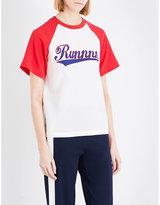 Mo&Co. Run silk-blend T-shirt
