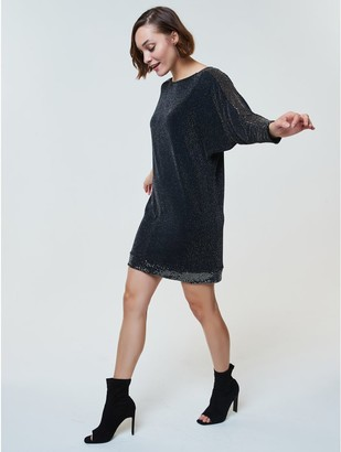 M&Co Sequin trim shift dress