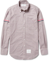 Thom Browne - Slim-fit Grosgrain-trimmed Gingham Cotton Oxford Shirt