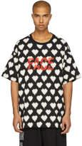 Facetasm Black Oversized Heart Face T-Shirt