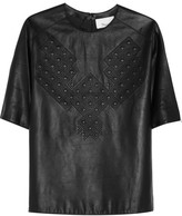 3.1 Phillip Lim Quilted leather T-shirt