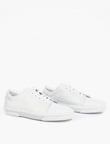 A.p.c. White Leather 'jaden' Sneakers