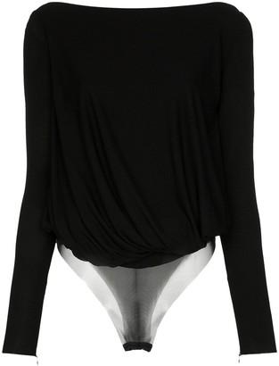 Tom Ford Cowl-Back Draped Bodysuit