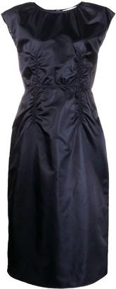 Maison Margiela Gathered Midi Dress
