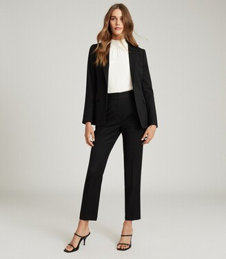 Reiss Hayes - Slim Fit Tailored Trousers in Black