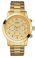 GUESS Gold-Dial 3 Hand Chronograph Watch