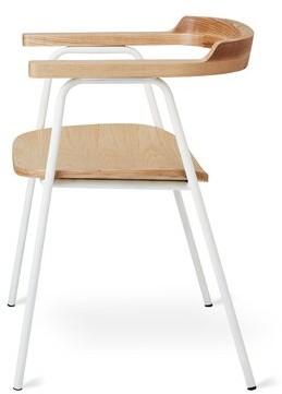 Gus* Modern Principal Powder Coat Dining Chair Gus* Modern Color: Natural/White