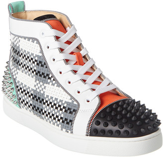 Christian Louboutin Lou Spikes 2 Leather Sneaker