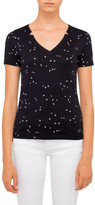 Armani Jeans Aj Allover Butterfly V Neck Tee