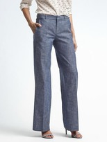 Banana Republic Blake-Fit Chambray Wide-Leg Pant