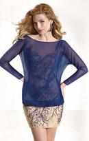 Tarik Ediz Strapless with Overlay Short Dress 90385