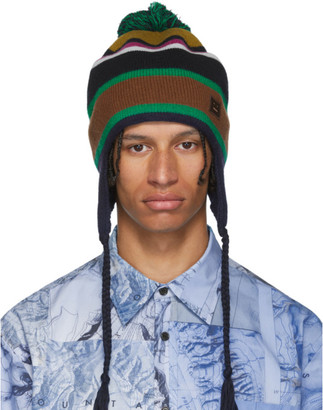 Acne Studios Black Ear Flap Beanie