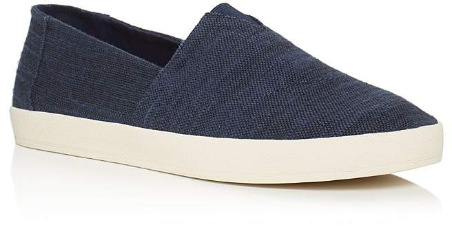 Toms Men's Avalon Linen Slip On Sneakers