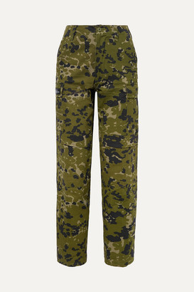 we11done Camouflage-print Cotton-twill Tapered Pants - Army green