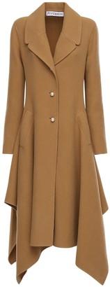 J.W.Anderson Draped Wool Knee Length Coat