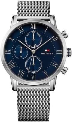 Tommy Hilfiger Silvertone Stainless Steel Chronograph Mesh Bracelet Watch