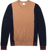Paul Smith - Colour-block Merino Wool And Silk-blend Sweater