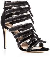 Pour La Victoire Women's Elsie Strappy Velvet Sandals