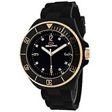 Seapro Women's SP7412 Bubble Analog Display Swiss Quartz Black Watch
