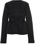 Francesco Scognamiglio Double Breasted Ruffled Wool Jacket