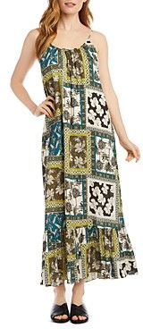 Karen Kane Printed Ruffle Hem Maxi Dress