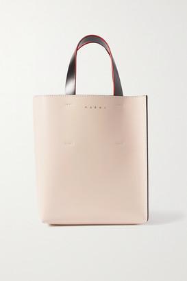 Marni Museo Mini Color-block Leather Tote - Pink