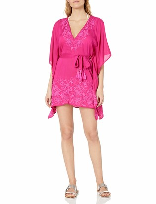 Trina Turk Women's Belted Caftan Swimsuit Cover Up