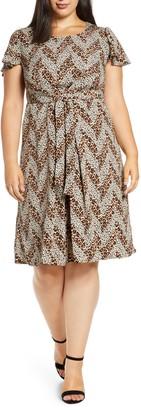Bobeau Carmen Pleated Woven Dress