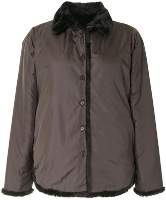 Aspesi Faux-Fur Collar Jacket