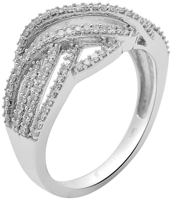 10k White Gold 1/2-Ct. T.w. Diamond Twist Ring