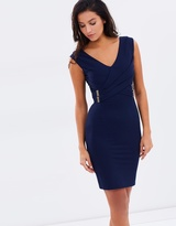 Lipsy Cap Sleeve V-Neck Body-Con Dress